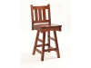545-Vintage Mission Swivel Bar Stool-RH