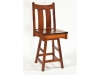 Country Shaker Swivel Bar Stool-RH
