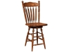 Post Paddle Swivel Bar Stool-FN