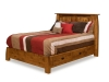 Colebrook Panel Bed with Storage Drawers-CB-PB-Q-SM
