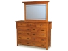 KPMD-12 Kingston Prairie Dresser and KPGM-20 Mirror-HO
