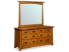 MS-657D-Mesa Dresser with Mirror: MS-42MR-SM