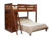 Bunk Bed with Bookcase: 1620-OT