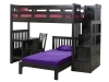1720-Bunkbed, Desk, Chair, Twin Bed, Staircase-OT