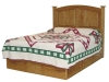 015-Platform Bed with Bow Panel Headboard-IT