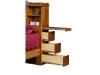 017-B-Bookcase Headboard Drawers-IT