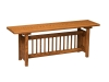 Classic Mission Trestle Bench-AJ