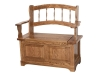 Country Spindle Storage Bench-AJ