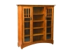 HDMB14-Mission Display Bookcase-Seedy Glass-HB