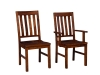 Alberta Chair-AT: Wood, Fabric or Leather Seat