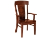 Lacombe Arm Chair-FN: Wood, Fabric or Leather Seat