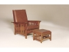 301 Clearspring Slat Morris Chair and 350 Ottoman-AJF