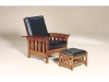 410-Bow Arm Slat Morris Chair and 460-Ottoman-AJF