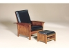 440 Bow Arm Panel Morris Chair and 470-Ottoman-AJF
