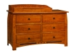 Linbergh 6 Drawer Dresser-With Changer-OT