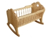 D150338-Tall Spindle Doll Cradle-SP