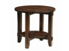 Bungalow Round End Table: SC-24RDBUE-SZ