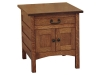Granny Mission Enclosed End Table-SH1200-SC