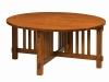 Rio Mission Round Coffee Table: SC-42RDRIOC-SZ