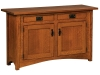 Arts & Crafts Cabinet Sofa Table-IH