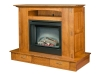 Modesto Fireplace with Mantle Lift for Plasma TV-CS