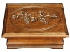 J022437-Medium Jewelry Box-Carved Grape Lid-SP