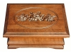 J022483-Medium Jewelry Box-Carved Rose Lid-SP