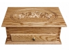 J040821-Standard Jewelry Chest- Carved Rose Lid-SP