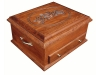 J050820-Deluxe Jewelry Chest-Carved Rose Lid-SP