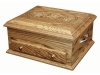 J050821-Deluxe Jewelry Chest-Carved Rose Lid-SP