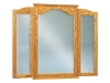 JRH-047-Hoosier Heritage Beveled Arch Tri-View Mirror-JR