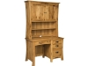 Arts & Craft Pedestal Desk: LA-323/Hutch-LA-323H-LB