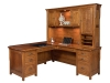 Boston Corner Desk: BO7284RD-Hutch; BO801447-LN