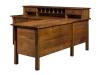 Centennial L Desk: LA-129-L: Desk Front-LB
