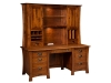 Arts & Crafts File Desk with Hutch Top-LB