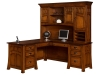 Bridgefort Mission Corner Desk and Topper-LN