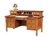 Centennial Flat Top Desk w/Hutch-LA-125w-LB