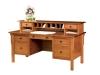 Centennial Flat Top Desk w/Hutch-LA-125w-LB
