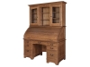 Noble Mission Roll Top Desk with Hutch-EI