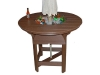 "RT48BB- 48"" Round Bar Table w/Bowl-CR"