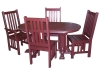 Mission Oval Table Set-CR