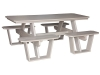 SPT802-Split Bench Picnic Table-CR