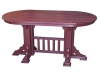 OM205D-Oval Mission Dining Table-CR