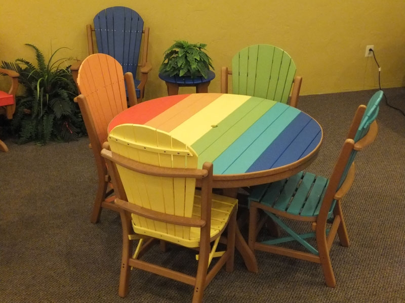 outdoor furniture colors. Outdoor Poly Lumber Furniture Tropical Colors