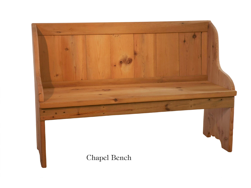 Reclaimed Wood Chapel Bench-RC - Reclaimed Wood Furniture €� Greenawalt Furniture