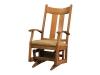 063-Aspen Glider with Fabric Seat-DE