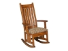 101-Harrisburg Mission Rocker: Fabric Seat-DE