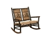 121-Grandpa Double Rocker with Fabric Seat-HH