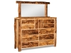 Log 10 Drawer Dresser w/Mirror-Aspen-FS