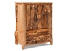 Log 2 Drawer Armoire-Rustic Pine-FS